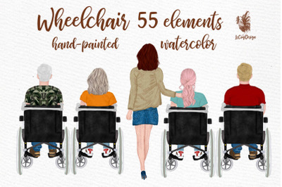Wheelchair clipart Disability clipart Special Needs clipart