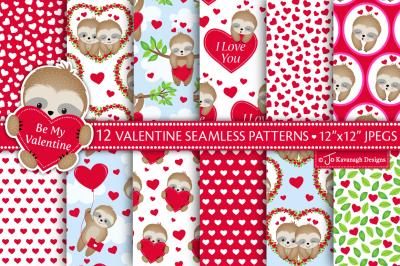 Valentine Digital Paper, Valentine Patterns -P47