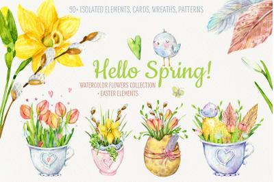 Hello Spring! Watercolor set