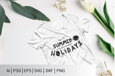 SUMMER HOLIDAYS SVG