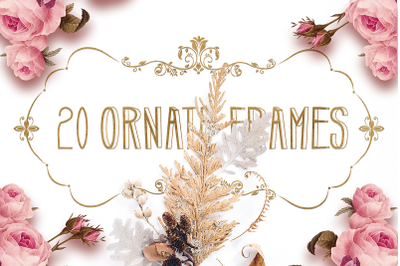 Ornate Floral Frames SVG Files Pack 1 with 20 Cut Files
