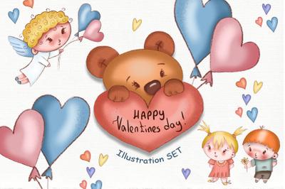 Valentine's Day Illustration SET