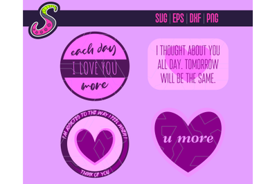 Love and Stuff - Cut & Print   Svg, Png, Eps, Dxf
