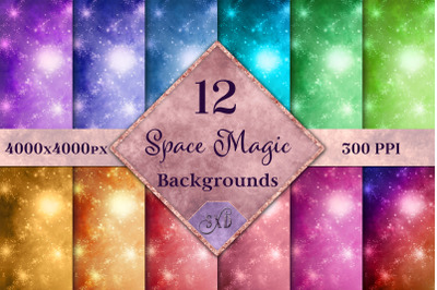 Space Magic Backgrounds - 12 Image Textures Set