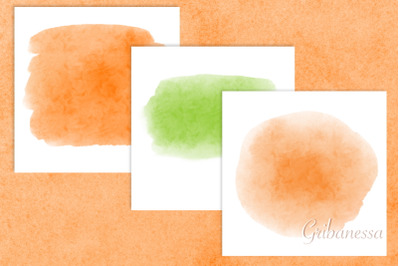 Green and orange backgrounds