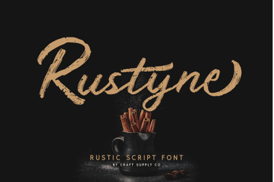 Rustyne - Rustic Script Font