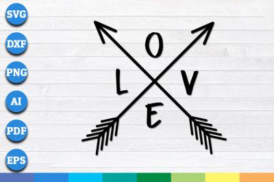 Love arrows svg, Valentine SVG, Valentines Day SVG, Love SVG