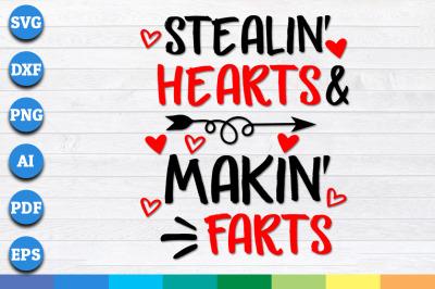 Stealin' Hearts and Makin' Farts, Blasting Farts Svg