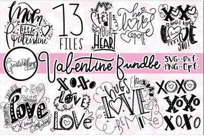 VALENTINE BUNDLE-hand lettering SVG-