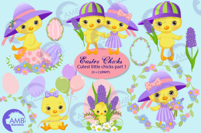 Easter chicks clipart part 1 AMB-2726