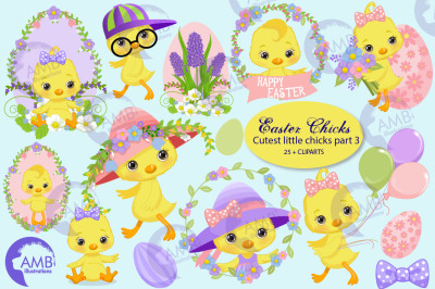 Easter Chicks clipart part 3 AMB-2728