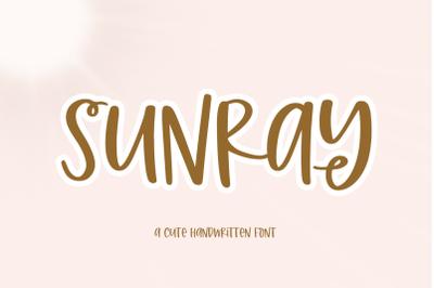 Sunray - Quirky Handwritten Font