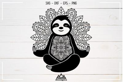 Sloth Mandala Zentangle Svg Design