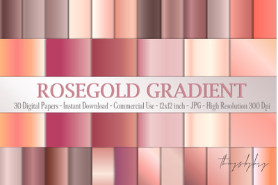 30 Rosegold Gradient Metallic Mesh Foil Digital Papers