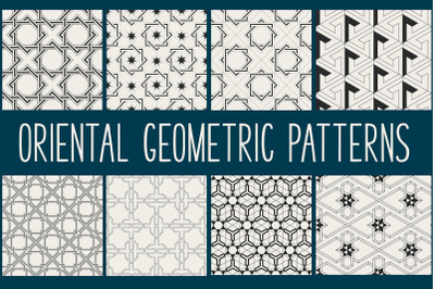 Abstract Oriental Geometrical Patterns