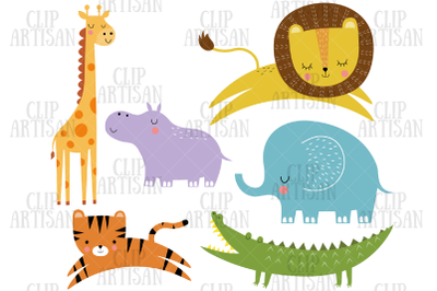 African Animals Clip Art, Safari Animals