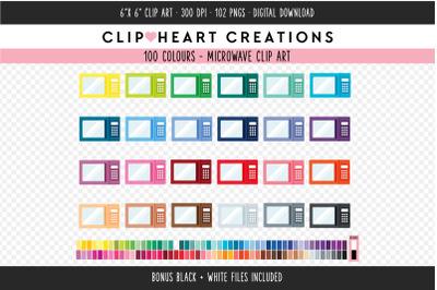 Microwave Clipart - 100 Colours