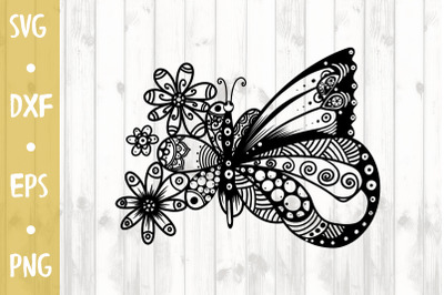 Floral butterfly - SVG CUT FILE