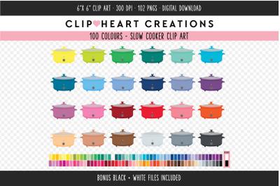 Slow Cooker Clipart - 100 Colours