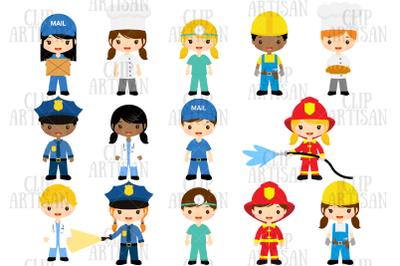 Community Helpers Clipart, Job Clipart, Professions