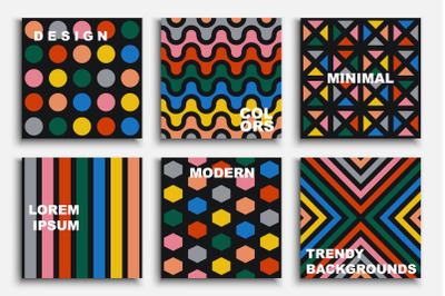 Vibrant colorful contemporary cards
