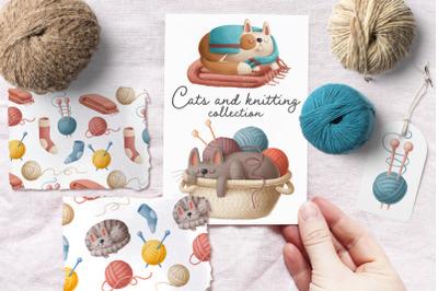 Kats and knitting