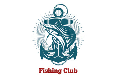 Fishing Club Retro Emblem
