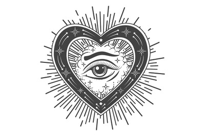 The Eye of Providence Tattoo Esoteric Illustration