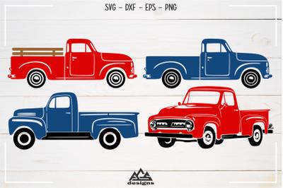 Old Pick Up Vintage Car Vehicle Svg Design
