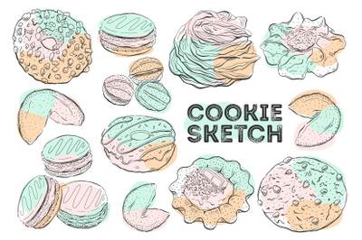 Cookie color sketch