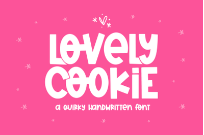 Lovely Cookie - Quirky Handwritten Font