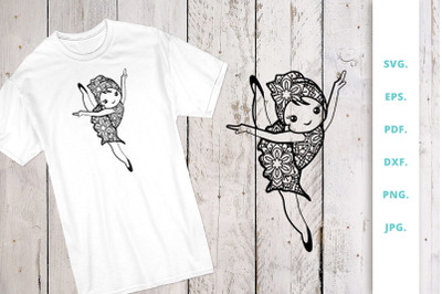 Cute Ballerina out of Mandala 7