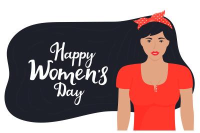 Happy Women's Day congratulatory banner