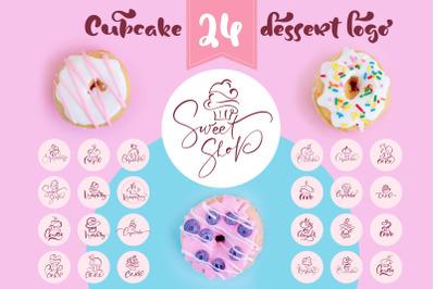 Cupcake Dessert Logo