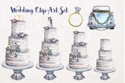 Watercolor Wedding Clip Art