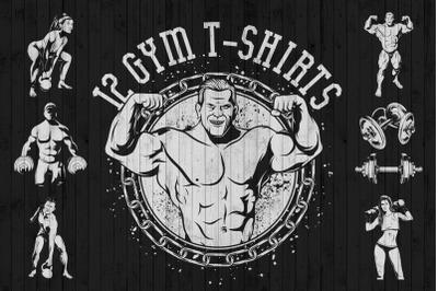 12 gym t-shirt designs
