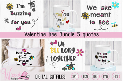Valentine Bee pun bundle svg, Will you bee mine, meant to bee, vinyl c