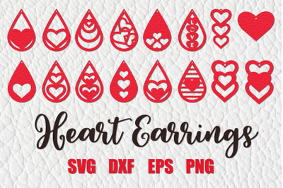 Valentines Earrings Svg,