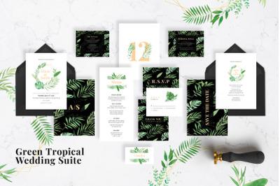 Green Tropical Wedding Suite