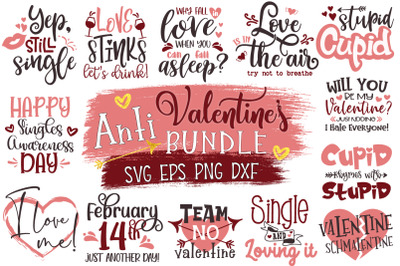 Anti Valentines Day Svg Bundle, Anti-Valentines Svg, Funny Valentines