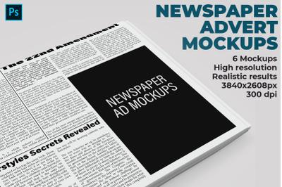 Newspaper Advert Mockups