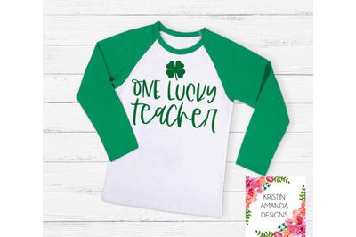 One Lucky Teacher St. Patricks Day SVG DXF EPS PNG Cut File  Cricut  S