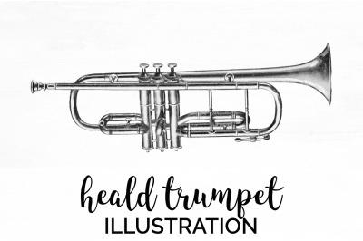 Trumpet Clipart Music - Heald Trumpet Vintage