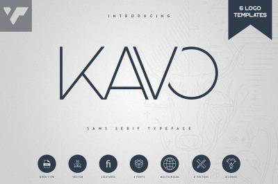 Kavo Sans Serif + 6 Logo Templates