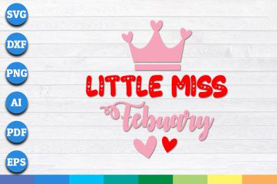Little Miss February SVG