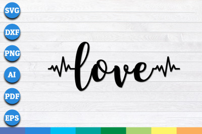Love with Heart-bit svg