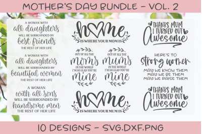 Mother's Day Bundle - 10 Designs