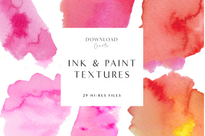 29 Ink & Watercolour Clip Art Pieces