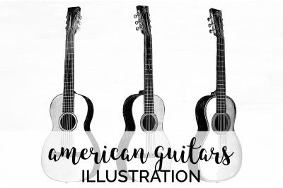 Guitar Clipart Music Vintage