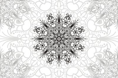 Flower Mandala. Vintage decorative elements. Oriental pattern, vector
